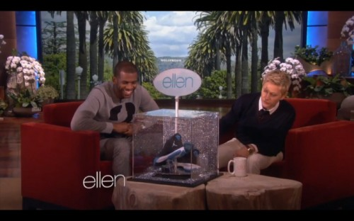 Screen-Shot-2014-02-12-at-7.06.18-PM-1-500x312 Ellen DeGeneres Gives Chris Paul a Custom Pair of Jordan CP3's (Video)