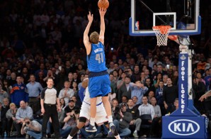 Dirk Nowitzki Rattles in a Buzzer Beater over Carmelo Anthony to Beat the Knicks (Video)