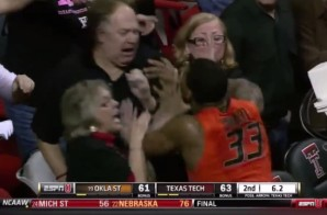 Oklahoma State Star Guard Marcus Smart Pushes a Texas Tech Fan (Video)