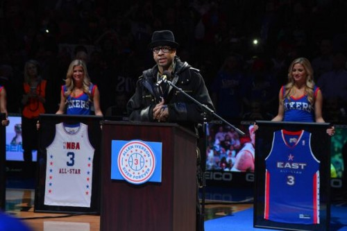 Bhsc7TJCYAASgLZ.jpg-medium-500x333 Simply The Best: Allen Iverson's Number 3 is Retired by the Philadelphia 76ers (Video)