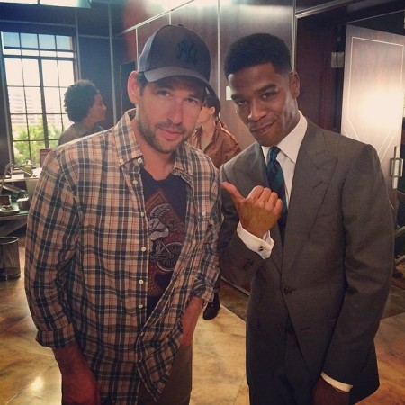 Doug Ellin Kid Cudi 450x450 Kid Cudi On The Set of Entourage Movie