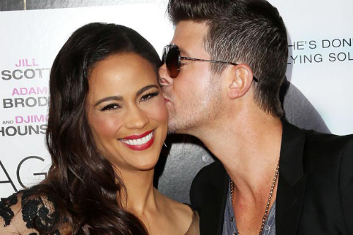 Robin Thicke Paula Patton1 Robin Thicke Doing Everything To Save His Marriage, Spends Birthday With Paula Patton