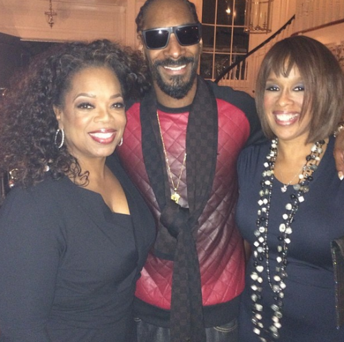 Snoop_Dogg_With_Oprah.jpg Snoop Dogg & Oprah Make Peace After Misogyny Misunderstanding (Photo)