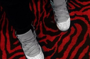 "Usher Steps Out in ""Elephant Print"" Air Jordan 11's (Photo)"