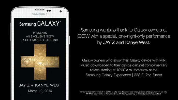 samsung-sxsw-concerts Samsung's SXSW Concert Series To Be Headlined By Jay Z & Kanye West