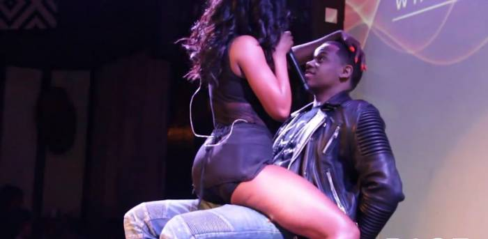 sevynmack Sevyn Streeter Gives Mack Wilds A Lap Dance At S.O.Bs Concert
