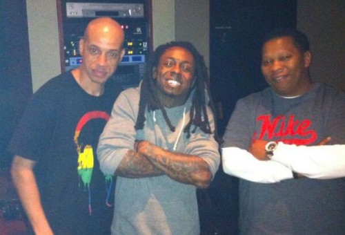 Lil Wayne & Mannie Fresh In The Studio Together (Photo)