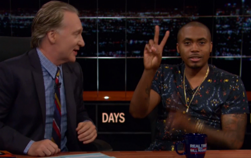 Nas_On_Bill_Maher Nas Sits Down With Bill Maher (Video)