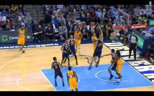 Screen-Shot-2014-04-13-at-7.18.59-AM-1-500x312 Timofey Mozgov Posterizes Utah Jazz Big Man Rudy Gobert (Video)