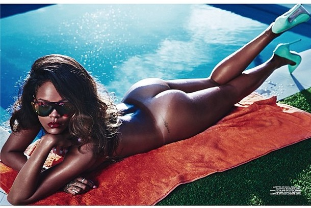 r2 1 Rihanna Chooses To Wear Her Birthday Suit On The Cover Of Lui (Photo)