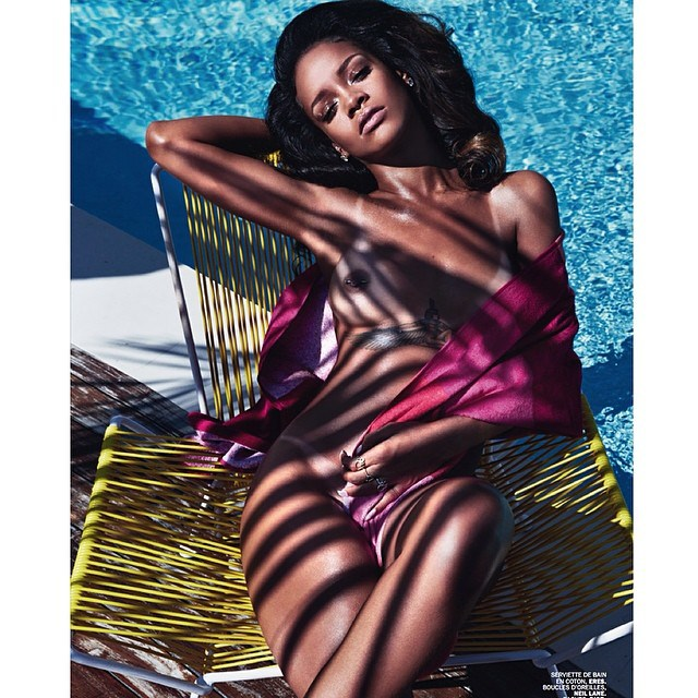 r5 Rihanna Chooses To Wear Her Birthday Suit On The Cover Of Lui (Photo)