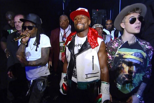Lil_Wayne_Performs_Believe_Me_While_Escorting_Floyd_Mayweather Lil Wayne Performs Believe Me While Escorting Floyd Mayweather To The Ring (Video)
