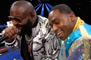 Rick Ross Walks Adrien Broner To The Ring (Video)