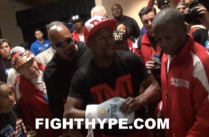 Mayweather Threatened Not To Fight Tonight Over Maidana Boxing Gloves (Video)