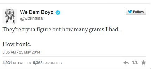 Wiz Tweet 4 Wiz Khalifa Arrested For Marijuana Possession In Texas