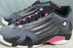 "Air Jordan 14 GS ""Grey & Pink"" (Photos)"
