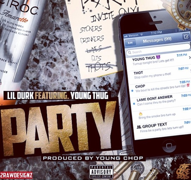 lil durk previews his new song party featuring young thug prod by young chop video HHS1987 2014 Lil Dur
