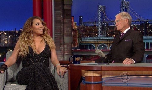 mc-letterman-500x296 Mariah Carey Makes A Guest Appearance On David Letterman (Video)