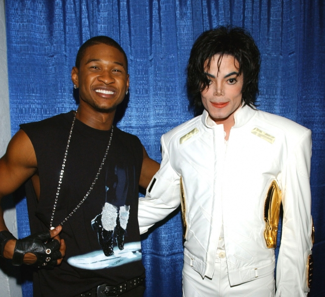 usher-michael-jackson Watch As Usher Debuts Michael Jackson New Song 'Love Never Felt So Good' At iHeartRadio Music Awards !!