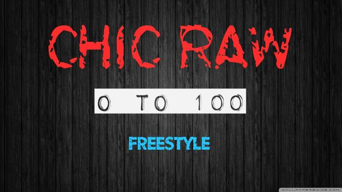Chic Raw 0to100 Chic Raw   0 To 100 Freestyle