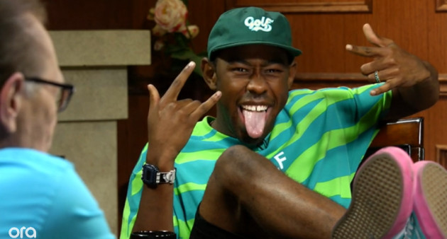 Screen Shot 2014 06 04 at 10.31.24 PM 630x338 1 Tyler, The Creator Talks His Upbringing, Pharrell & More On Larry King Now (Video)