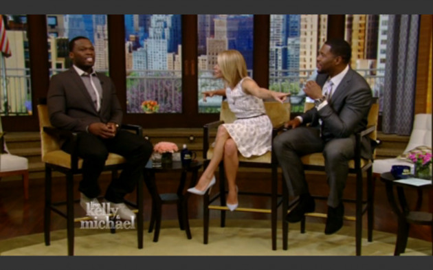 Screen shot 2014 06 02 at 9.06.43 PM 630x393 1 Watch 50 Cent Make A Guest Appearance On Live With Kelly & Michael After His Summer Jam Escapade!