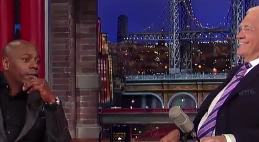 Watch Dave Chappelle Make His Debut Late Night Television Appearance In 5 Years On Letterman !!