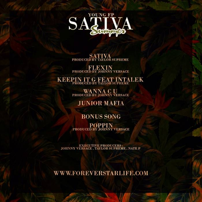 backcover Young FP - Sativa Summer (Mixtape)