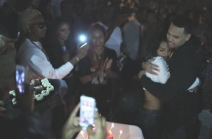 "Chris Brown Surprises Teyana Taylor at her ""Maybe"" Single Release Party (Video)"