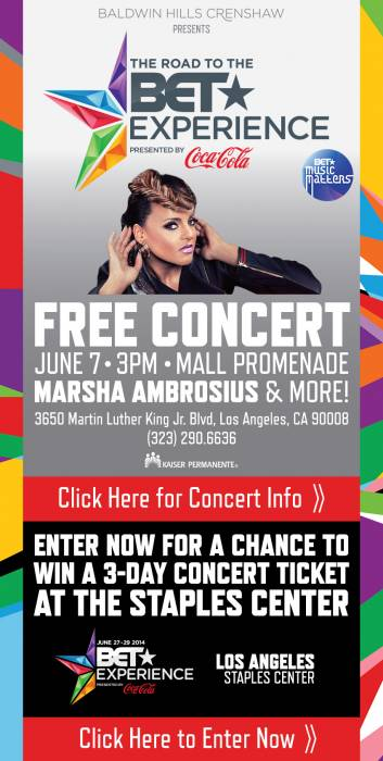 image The BET Experience/Music Matters Presents: Marsha Ambrosius  June 7th 2pm Til 5pm At The Baldwin Hills Mall