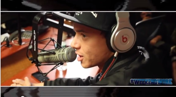logic Logic Visits #WeekendWork With DJ Caesar & Coach PR On Shade45 (Video)