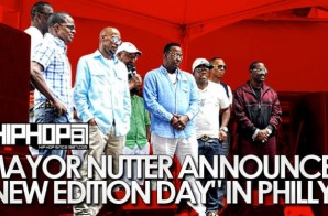 "Mayor Nutter Announces ""New Edition Day"" In Philadelphia (Video)"