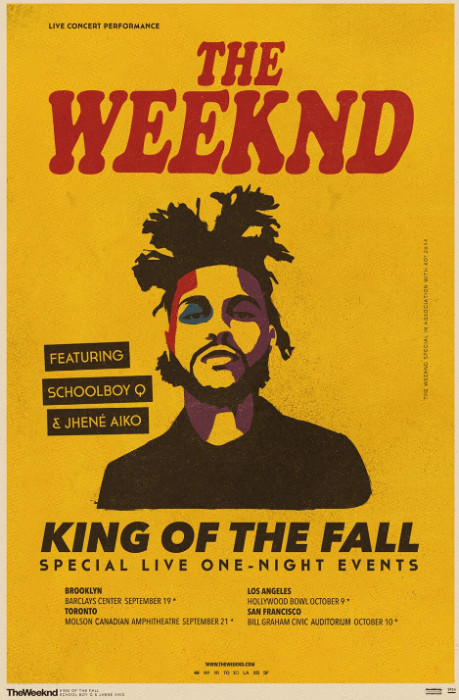 the weeknd announces king of the fall tour dates HHS1987 2014 1 The Weeknd Announces King of the Fall Tour Dates