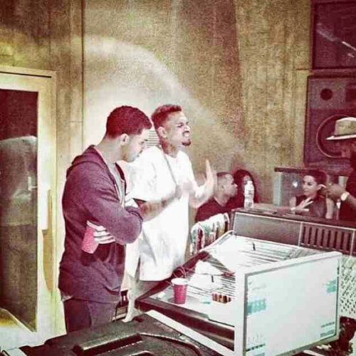Chris_Brown_Drake_Working_On_Collab_Project Chris Brown & Drake Working On A Collab Project (Video)