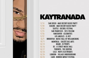 Kaytranada – 2014 North American & European Fall Tour Dates