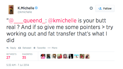 K_Michelle_Tweet_About_Her_Butt
