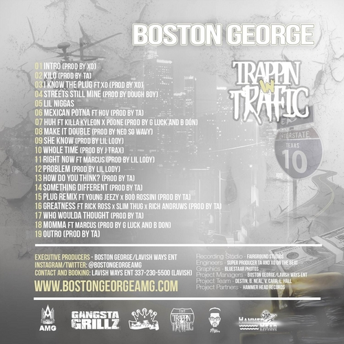 boston george trappin in traffic mixtape HHS1987 2014 tracklist Boston George   Trappin In Traffic (Mixtape)