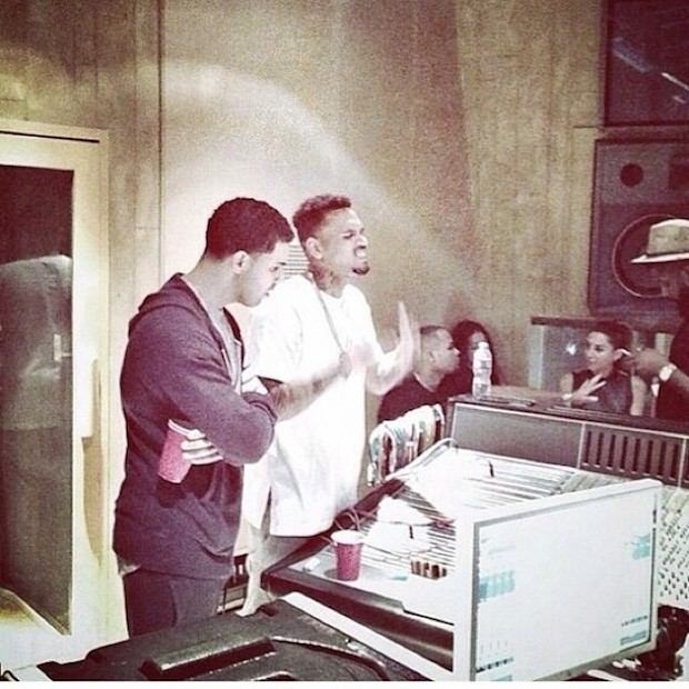 chris-brown-drake-link-up-in-the-studio-HHS1987-2014 Chris Brown & Drake Link Up In The Studio