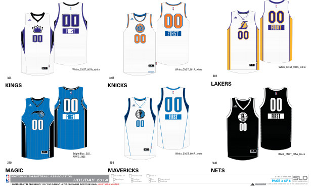 christmas3 1 NBA 2014 Christmas Jerseys Unveiled (Photos)