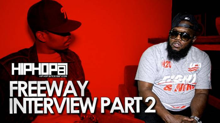 freeway interview pt2 Freeway Talks Record Deals, Rocafella, His Career & More With HHS1987 (Vid