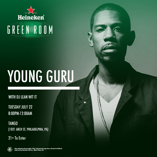 heineken-green-room-young-guru-july-22-2012-in-philly-HHS1987-2014 Heineken Green Room: Young Guru July 22, 2014 in Philly