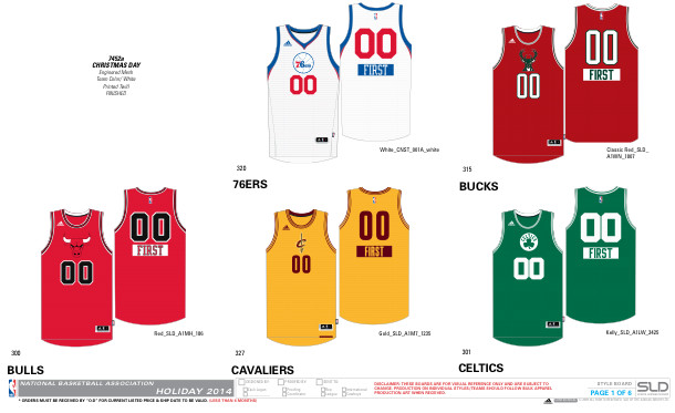 nbachristmas 1 NBA 2014 Christmas Jerseys Unveiled (Photos)