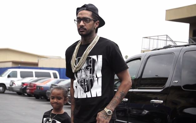 nipseyhusellXtrayvonmartin Nipsey Hussle Shows His Support At Trayvon Martin Crenshaw Rally (Video)