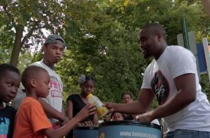 Quilly & Fam Juice Cleans Up Vernon Park & Gives Back To The Community (Video)
