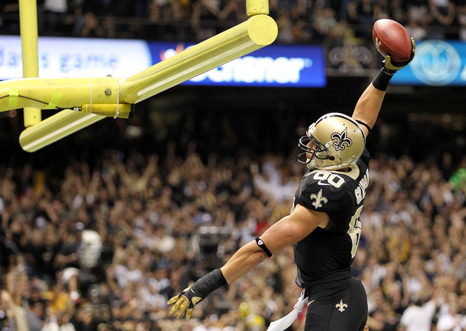 11855688-standard New Orleans Saints TE Jimmy Graham Fined $30,000 For Dunking On The Goal Post