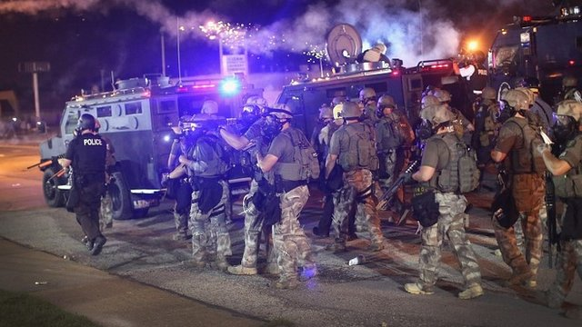 77005784_77005783 Missouri Governor Jay Nixon Orders Missouri National Guard To Leave Ferguson