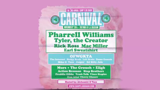OFxCarnival2014 Odd Futures 2014 Camp Flog Gnaw Carnival Line Up Revealed (Video)