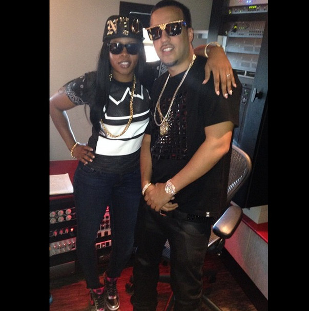 Screen Shot 2014 08 05 at 4.40.49 PM 1 French Montana Previews New Record w/ Remy Ma (Video)