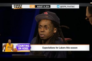 Lil Wayne Talks Lebron Leaving Miami, Kobe Bryant & The Lakers, Aaron Rodgers & More on ESPN's First Take (Video)