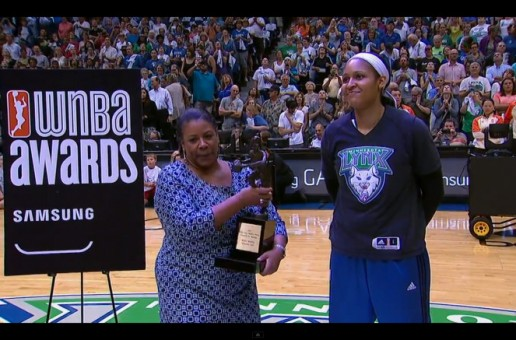 Maya Moore Accepts Her First WNBA MVP Award In Front Of Her Minnesota Lynx Home Crowd (Video)